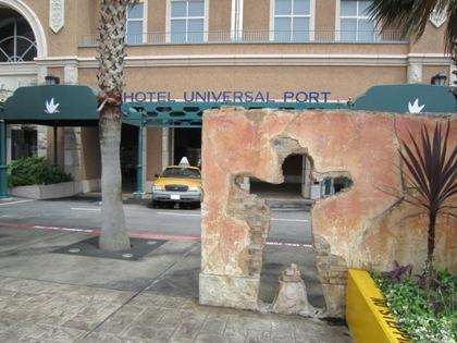 ホテルユニバーサルポートの玄関口