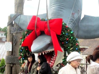 ジョーズフォト USJのクリスマス風景