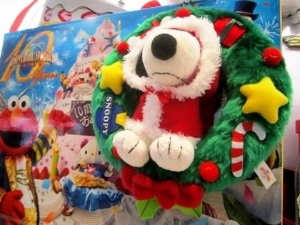 スヌーピーグッズ USJのクリスマス風景