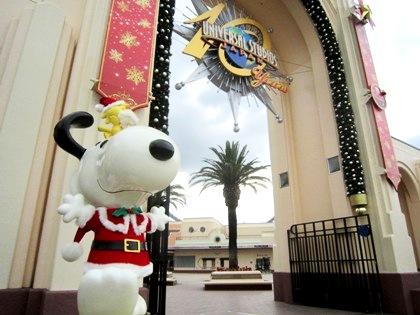 スヌーピー USJのクリスマス風景