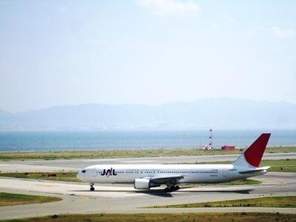 JALの機体 関空展望ホール