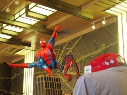 スパイダーマンのお店