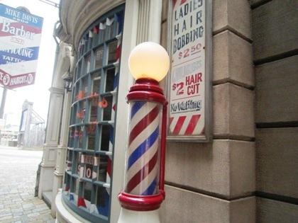 USJの理髪店 ニューヨーク・エリアのサインポール
