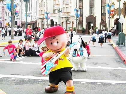 USJキャラクター写真撮影 チャーリーブラウンとスヌーピー