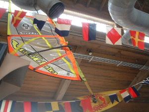 ボートハウスの天井