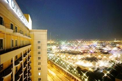 夜景の見える部屋 ホテルユニバーサルポート